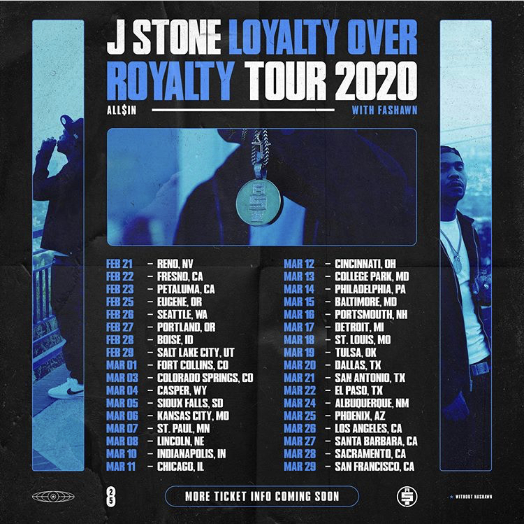 Cardi B Loyalty Over Royalty Bicep Tattoo: JStone Loyalty Over Royalty Tour