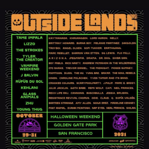 Halloween weekend Outside Lands Concert is going down in Golden Gate Park S.F.